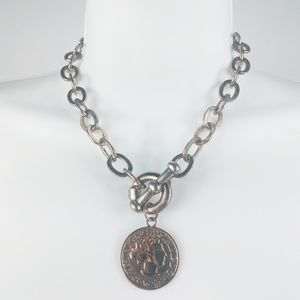 Gold Chain Coin Necklace